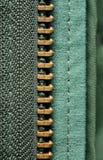 Mitad de la cremallera Foto de archivo libre de regalías