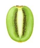 Mitad de la fruta de kiwi en el fondo blanco fotografía de archivo