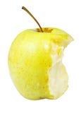 Mitad de la manzana 'golden delicious' Foto de archivo libre de regalías