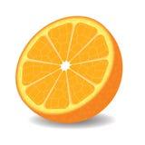 Mitad de la naranja en el fondo blanco Foto de archivo