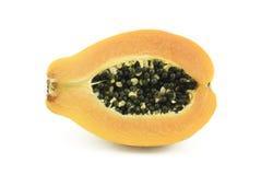 Mitad de la papaya Fotos de archivo libres de regalías