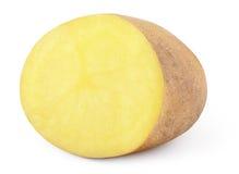 Mitad de la patata aislada en blanco fotos de archivo