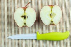 Mitad de una manzana Fotografía de archivo