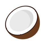 Mitad del coco Imagen de archivo libre de regalías