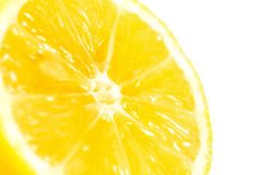 Mitad del limón aislada en el fondo blanco Fotos de archivo