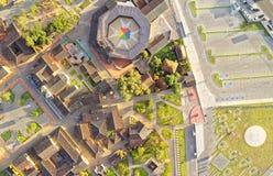 Mitad Del Mundo Aerial Image Stock Images