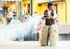 Indigenous dancers of Ecuador stock photography