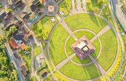 Mitad Del Mundo Drone Aerial Image Stock Photos