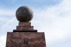 Middle of the world,  Mitad del Mundo, Equator, south america Stock Images