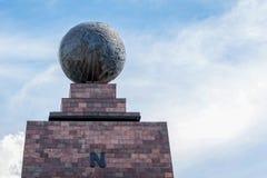 Mitad Del Mundo Monument, Ecuador Stock Photos