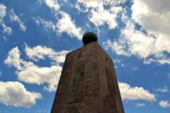 Mitad Del Mundo Monument near Quito, Ecuador Royalty Free Stock Image