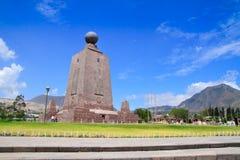 Mitad del mundo o centro del mondo, Ecuador. Fotografie Stock