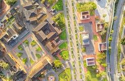 Mitad Del Mundo Planetarium Aerial Image Stock Images