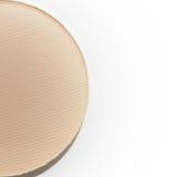 Mitad del polvo presionado del beige natural aislado Imagen de archivo libre de regalías