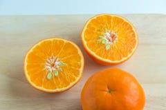 Mitades de la naranja fresca Imagenes de archivo