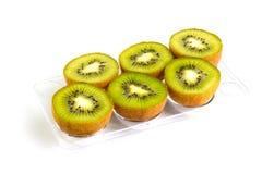 Mitades del kiwi Imagen de archivo libre de regalías
