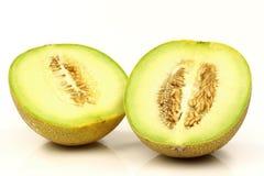 Mitades frescas del melón del galia Imagen de archivo libre de regalías