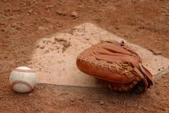 Mitaine de gants de baseball Photographie stock