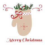 Mitaine de Noël illustration stock