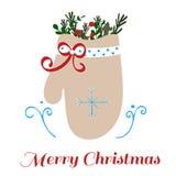 Mitaine de Noël illustration de vecteur