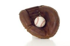 Mitaine et bille de base-ball image stock