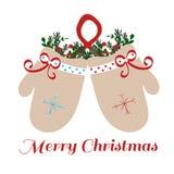 Mitaines de Noël illustration libre de droits