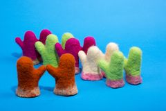Mitaines de souvenir de laine felted Photo libre de droits