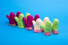 Mitaines de souvenir de laine felted Images stock