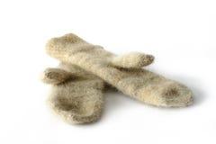 Mitaines des laines de crabot Photo libre de droits