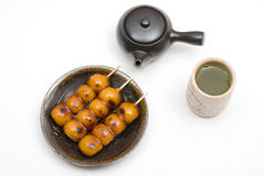 Mitarashi-dango Royalty Free Stock Photography