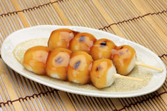 Mitarashi-dango Royalty Free Stock Photo