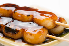 Mitarashi-dango Royalty Free Stock Photos