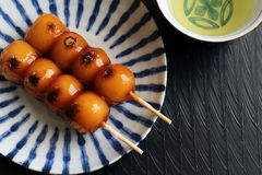 Mitarashi dango Stock Images
