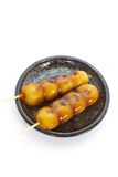 Mitarashi Dango lapanese dumpling Royalty Free Stock Photos
