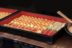 Mitarashi dumplings stock image