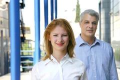 Mitarbeiter, die das Büro verlassen Lizenzfreie Stockfotos
