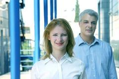 Mitarbeiter, die das Büro verlassen Lizenzfreies Stockfoto