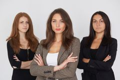 Mitarbeiterteam an den Geschäftsfrauen lizenzfreie stockfotografie