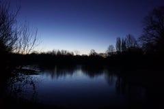 Mitcham-Teich stockbilder
