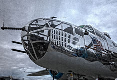 Mitchell B-25 näsa Fotografering för Bildbyråer