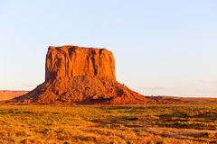 Mitchell Butte in Monument Valley. The rock formation Mitchell Butte in Monument Valley in evening light Royalty Free Stock Image