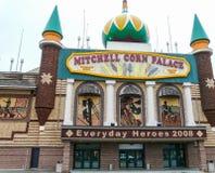 Mitchell Corn Palace - yttersida Arkivbild