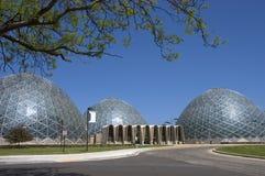 Mitchell cubre con una cúpula el invernadero en Milwaukee, WI Imagen de archivo