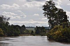 Mitchell Fluss in der Flut stockbild