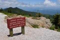 mitchell góry szczyt zdjęcia stock