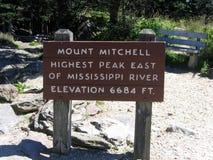 mitchell góry znak Obrazy Royalty Free