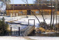 Mitchell Prehistoric Indian Village na neve do inverno, SD Fotografia de Stock