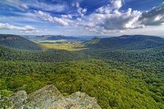 Mitchell& x27; s Ridge Lookout, montagem Victoria, montanhas azuis, Austra fotos de stock