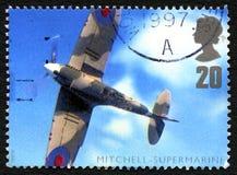 Mitchell-Supermarine UK Postage Stamp stock illustration