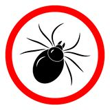 Mite insect sign vector icon stock illustration